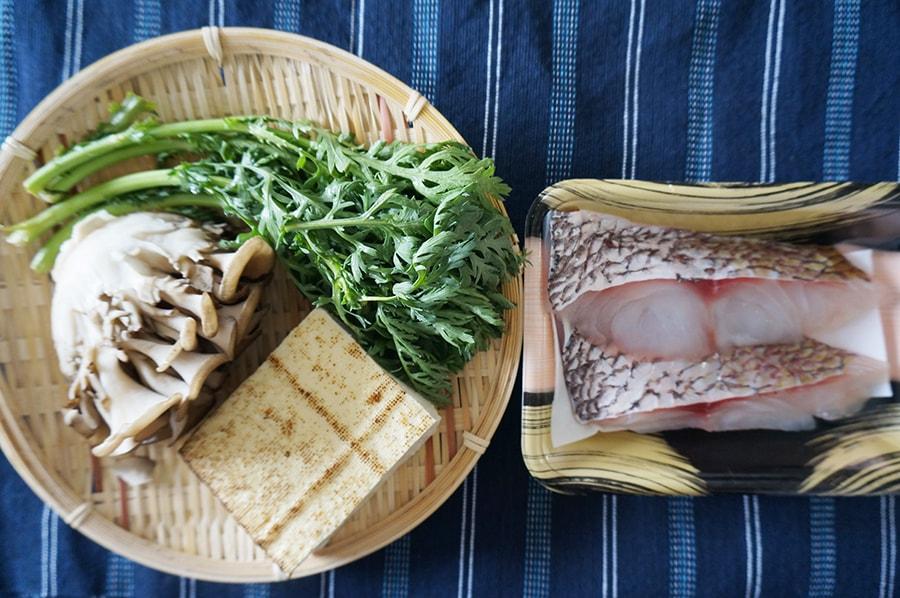 鯛のちり蒸しのレシピ