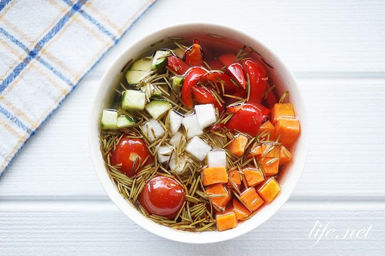 野菜のみりんビネガー漬けの作り方