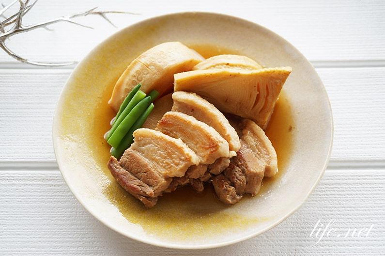 大原千鶴さんのたけのこと豚バラ肉の煮物のレシピ。きょうの料理で話題。