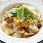 平野レミさんのたけのこ混ぜご飯のレシピ。卵と豚肉入りで豪華!