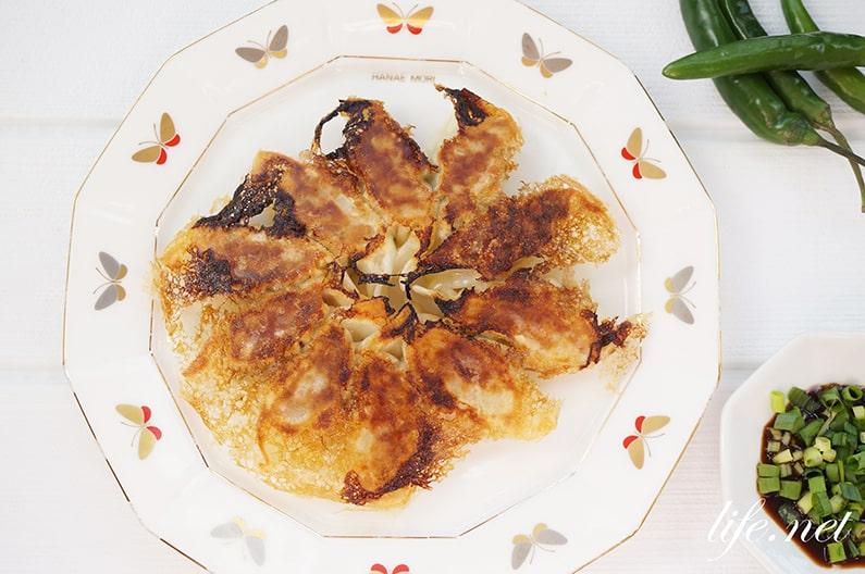 男子ごはんのスタミナにんにく餃子のレシピ。青唐辛子がたっぷり!