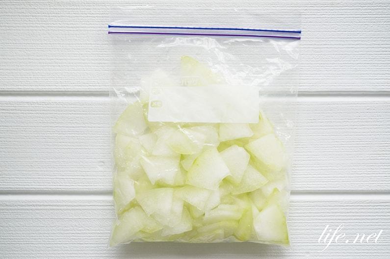冬瓜とたこのマリネサラダの作り方。生で食べられる絶品レシピ。