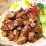 牛の角煮丼のレシピ。男子ごはんの人気メニュー。