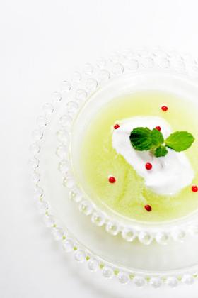 メロンのデザートスープ