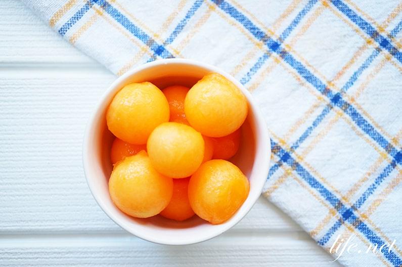 メロンの炭酸フルーツのレシピ
