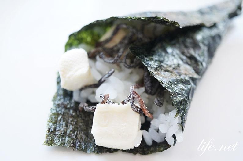 レモン酢飯に合う手巻き寿司の具材クリームチーズ塩昆布