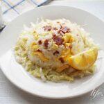 家事えもんのサラミレタスチャーハンのレシピ。サラミで旨味アップ!
