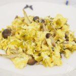 高菜炒り卵の作り方。漬物を使ったお弁当のおかずレシピ。
