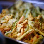 お茶漬けの素を入れた野菜のかき揚げレシピ