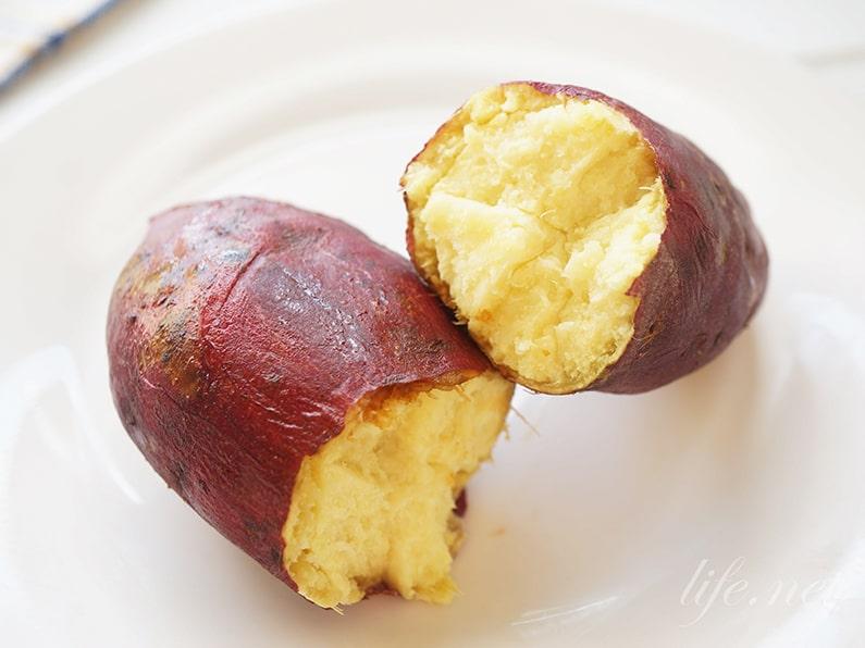 焼き芋を電子レンジで作る絶品レシピ。解凍モードでホクホクに。