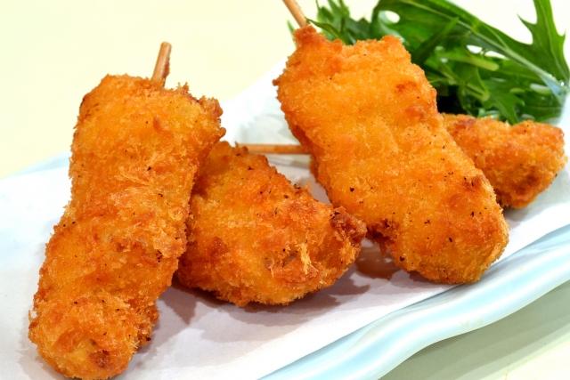 食パンの耳で作る串カツレシピ