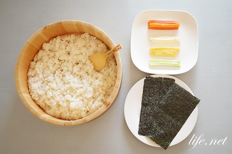 ガッテンの巻き寿司の簡単な巻き方。巻きすなしでも上手に出来る!