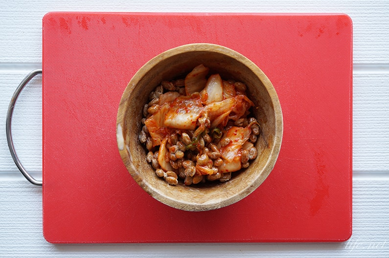 キムチ納豆を使ったレシピ