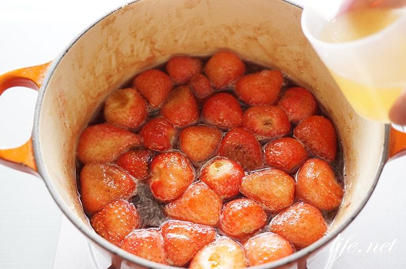 いちご煮の作り方。きょうの料理で話題のいちごコンポートのレシピ。