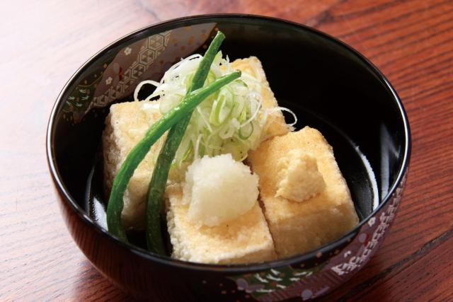 肉巻き揚げだし豆腐レシピ