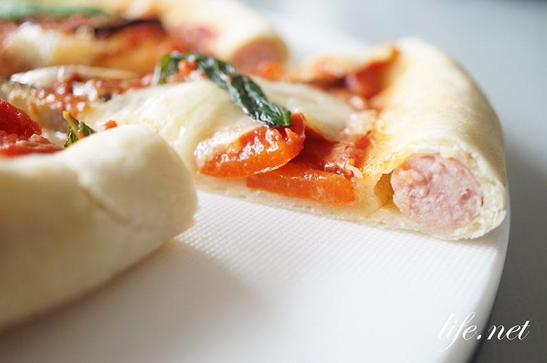 耳にソーセージを入れたピザの作り方