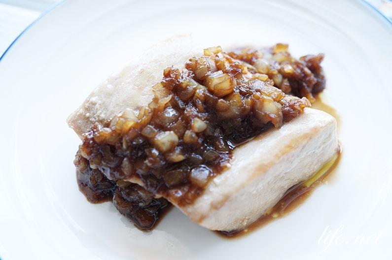 絶品マグロステーキのレシピ。加熱してもパサパサにならない作り方。