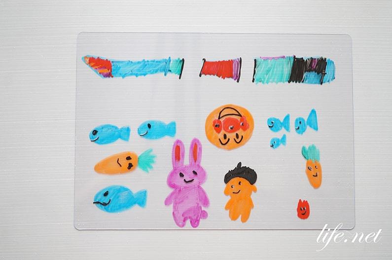 ホワイトボードマーカーペンで描いた魚が泳ぎ出す方法!自由研究にも!