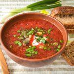 トマトと舞茸のにんにくスープレシピ