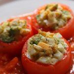 あさイチのそばの実のトマトファルシレシピ