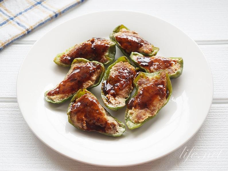 あさイチのピーマンの肉詰めのレシピ。はがれないジューシーな作り方。