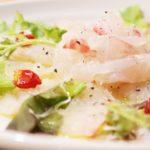鯛のマリネのレシピ。白身魚のお刺身がプロの味に。