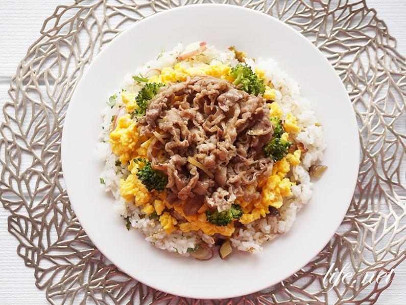 甘辛牛肉のちらし寿司のレシピ。大人気!あさイチで話題の作り方。