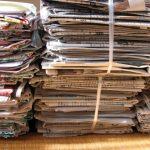 あさイチのレジ袋で新聞紙を縛る方法