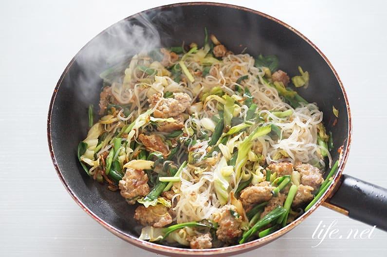 しらたき塩焼きそばのレシピ。NHKあさイチで話題の作り方。