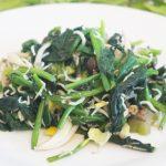 塩ゆずのほうれん草としらすの炒め物のレシピ