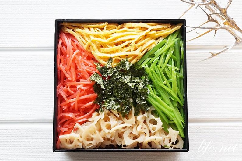 きょうの料理の五目寿司のレシピ。ひな祭りにも!具沢山ちらし寿司。