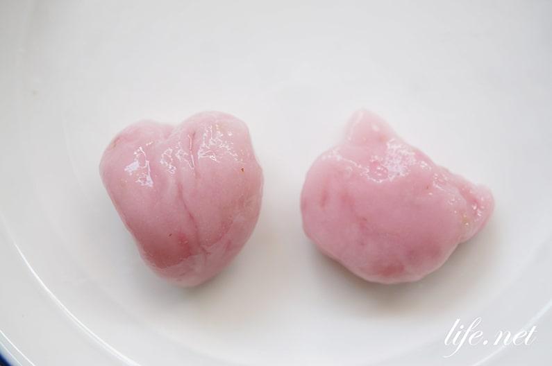 いちご白玉のレシピ。かわいいピンクのフルーツ白玉の作り方。