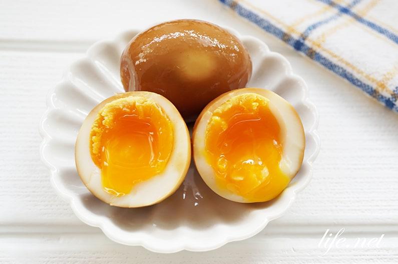 ゆで卵のウスターソース漬けのレシピ。おつまみ煮卵(味付け卵)に。