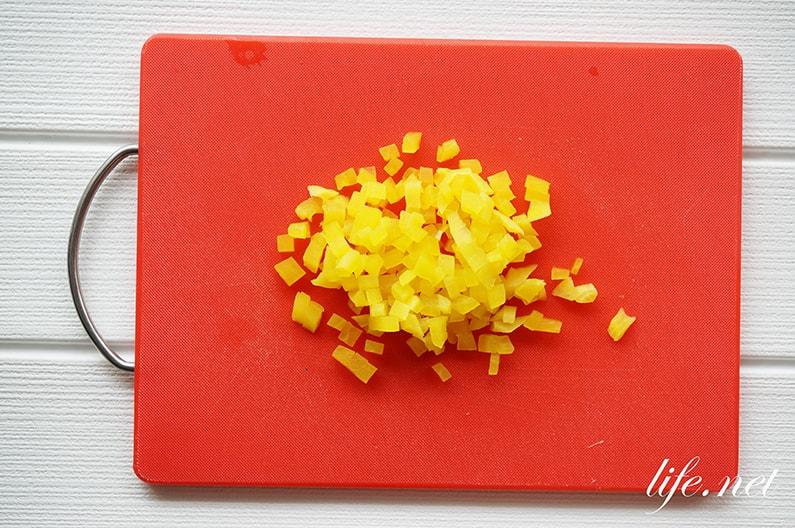 たくあん入り卵サンドイッチのレシピ。隠し味に、食感も最高!