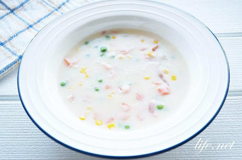 ホットケーキミックスクリームシチューのレシピ。マツコの知らない世界で話題。
