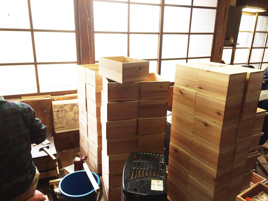 前田工房さんの茶箱