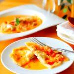 餃子の皮で作るラビオリのレシピ
