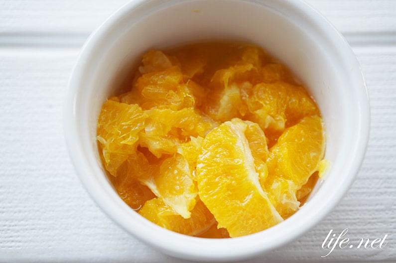 男子ごはんのクレープのレシピ。りんごコンポートとオレンジソース。