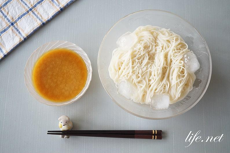 家事えもんのヨーグルトそうめんつゆのレシピ。簡単にコクがアップ!