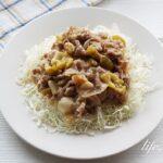梅味噌の豚肉炒めのレシピ。キャベツと豚肩ロースの味噌炒め。