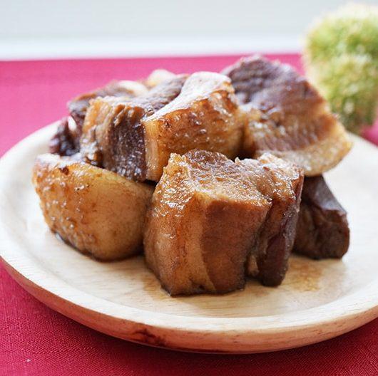 炭酸水で作る豚の角煮のレシピ
