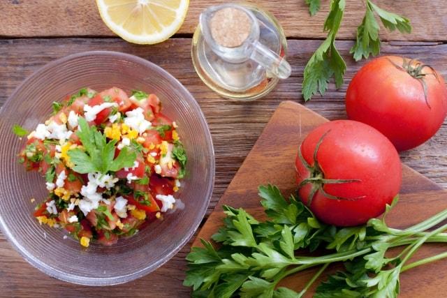 完熟梅のサラダのレシピ