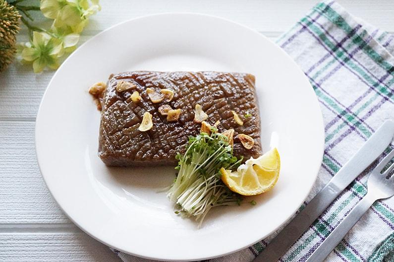 こんにゃくステーキのレシピ。平野レミさんの作り方。