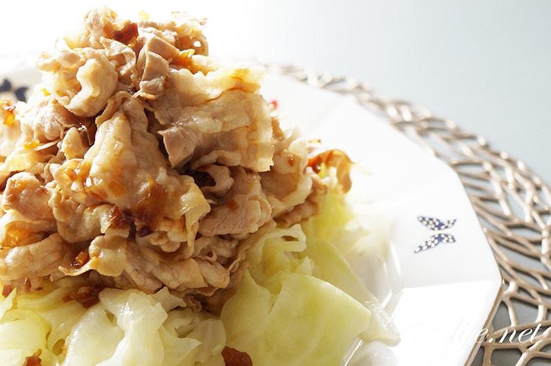 あさイチの菜の花と豚しゃぶのおかかあえのレシピ。鰹節醤油で。