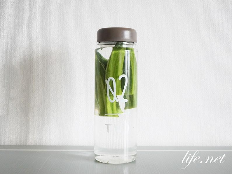 オクラ水の作り方。水につけるだけで糖尿病予防・便秘改善にも。