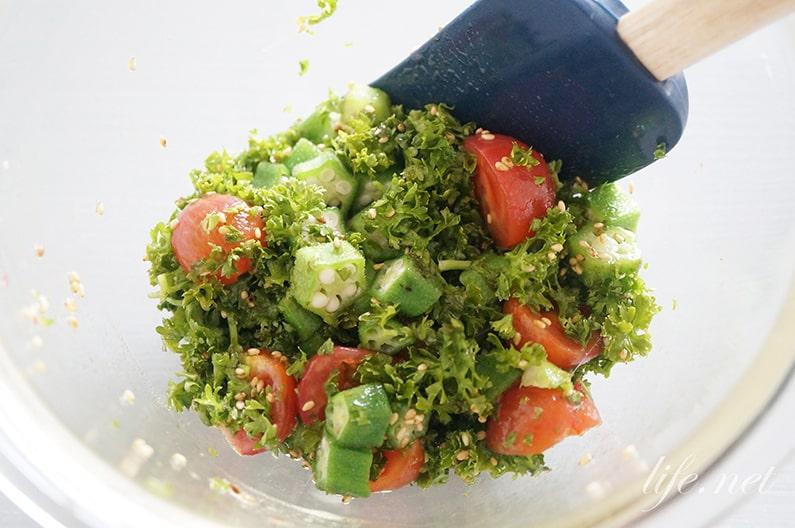 パセリソースの絶品サラダのレシピ。イタリアンの美味しい食べ方。