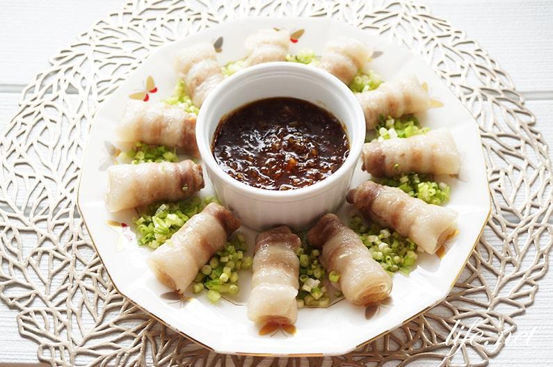 平野レミさんのくるくる角煮。モニタリングで話題のレシピ。