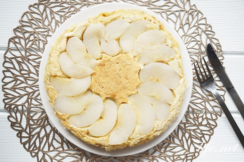 梨パンケーキのレシピ。ホットケーキミックスで簡単!梨ケーキ。