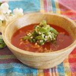 トマトジュースの冷たいスープご飯のレシピ