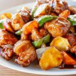 黒酢の酢豚のレシピ。蒸して柔らかく仕上がるプロの作り方。